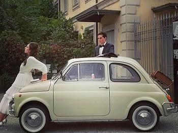 Noleggio auto storiche a Como per cerimonia